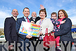 WINNER of the Kerry's Eye, Stein Travel.ie €3,000 Holiday is Anna Keogh from Lissavigeen, Killarney pictured being presented with her prize by David Slattery, Stein Travel.ie and Brendan Kennelly, Kerry's Eye. Also in photo is Anna's husband Edward, daughter Caroline McCarthy and granddaughter Roisin McCarthy.