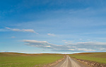 This gravel road leads into the heart of the Palouse in Eastern Washington State.