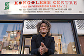 Floresse Lembe at the Congolese Centre for Information and Advice, North Paddington, London.