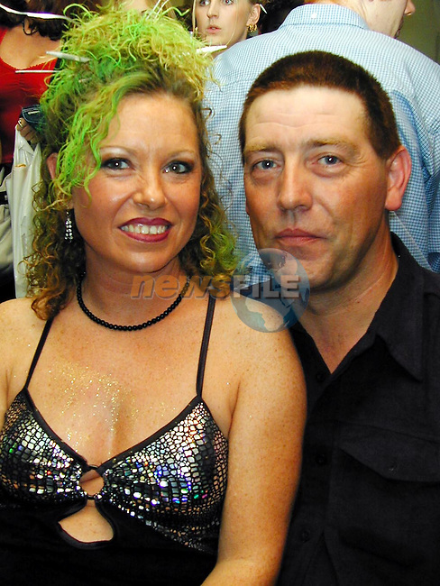 Bernie Mullen and George Condron at the Millenium Hair Show in O'Neill's Duleek..Picture Paul Mohan Newsfile
