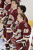 Dan Bertram, Benn Ferreiro, Brock Bradford - The Boston College Eagles defeated the Miami University Redhawks 5-0 in their Northeast Regional Semi-Final matchup on Friday, March 24, 2006, at the DCU Center in Worcester, MA.