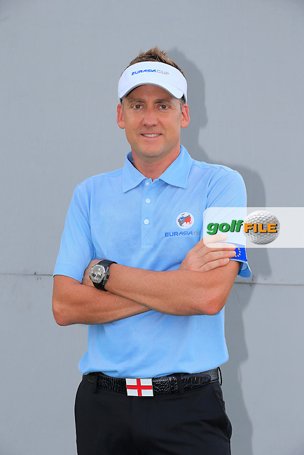 Ian Poulter (ENG) European Team before Pro-Am Day of the 2016 Eurasia Cup held at the Glenmarie Golf &amp; Country Club, Kuala Lumpur, Malaysia. 14th January 2016.<br /> Picture: Eoin Clarke | Golffile<br /> <br /> <br /> <br /> All photos usage must carry mandatory copyright credit (&copy; Golffile | Eoin Clarke)