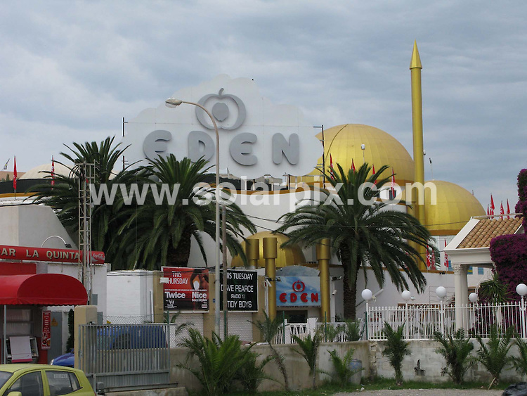 **ALL ROUND PICTURES FROM SOLARPIX.COM**.**WORLDWIDE SYNDICATION RIGHTS**.Eden night club in San Antonio Ibiza where Wayne Rooney and his stag party visited on their four day party..JOB REF:   6582      TWS        DATE:07.06.08.**MUST CREDIT SOLARPIX.COM OR DOUBLE FEE WILL BE CHARGED* *UNDER NO CIRCUMSTANCES IS THIS IMAGE TO BE REPRODUCED FOR ANY ONLINE EDITION WITHOUT PRIOR PERMISSION*