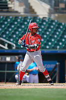 Washington Nationals Frailin Turbi (22) at bat during an Instructional League game against the Miami Marlins on September 25, 2019 at Roger Dean Chevrolet Stadium in Jupiter, Florida.  (Mike Janes/Four Seam Images)