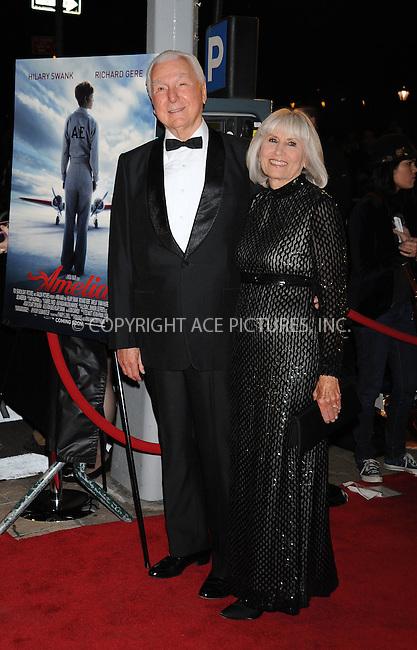 WWW.ACEPIXS.COM . . . . .  ....October 20 2009, New York City....Writer Elgen Long (L) arriving at the premiere of 'Amelia' at The Paris Theatre on October 20, 2009 in New York City. ....Please byline: AJ Sokalner - ACEPIXS.COM..... *** ***..Ace Pictures, Inc:  ..tel: (212) 243 8787..e-mail: info@acepixs.com..web: http://www.acepixs.com