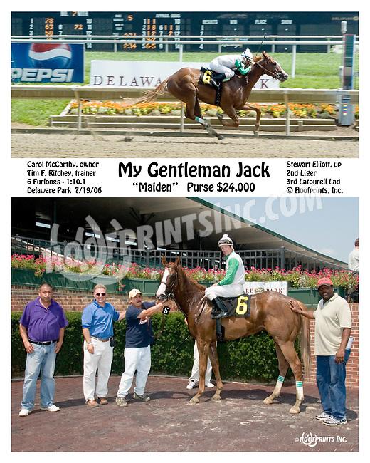 My Gentleman Jack winning at Delaware Park on 7/19/06