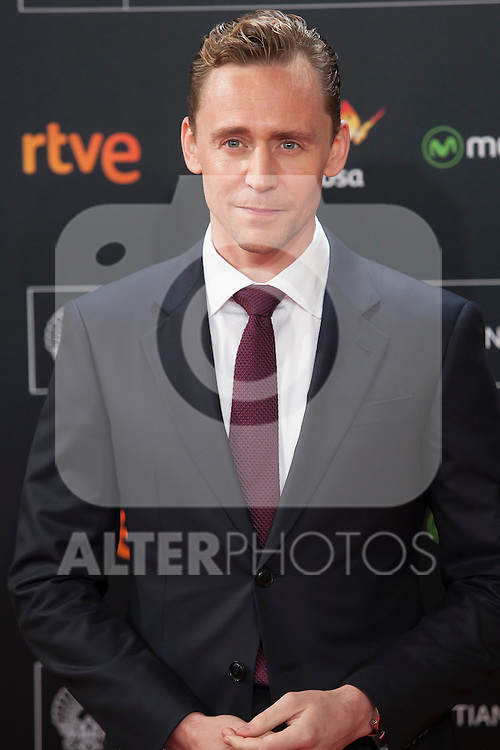 British actor Tom Hiddleston arrives to `High Rise´ film premiere during 63rd Donostia Zinemaldia (San Sebastian International Film Festival) in San Sebastian, Spain. September 22, 2015. (ALTERPHOTOS/Victor Blanco)