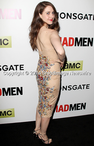 Pictured: Alison Brie<br /> Mandatory Credit &copy; Frederick Taylor/Broadimage<br /> &quot;Mad Men&quot; Season 7 Premiere <br /> <br /> 4/2/14, Hollywood, California, United States of America<br /> <br /> Broadimage Newswire<br /> Los Angeles 1+  (310) 301-1027<br /> New York      1+  (646) 827-9134<br /> sales@broadimage.com<br /> http://www.broadimage.com