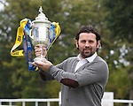 Alloa boss Paul Hartley at Hamilton racecourse for The Scottish Cup draw