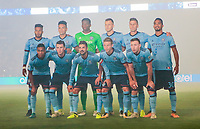 Carson, CA - Saturday August 12, 2017: New York City FC strarting eleven   during a Major League Soccer (MLS) game between the Los Angeles Galaxy and the New York City FC at StubHub Center.
