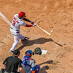 30 April 2017: Washington Nationals outfielder Michael Taylor at bat in the 4th inning against the New York Mets at Nationals Park in Washington, DC. The Nationals defeated the Mets 23-5, with the Nationals setting several individual and team records, in the third game of their weekend series. Mandatory Credit: Ed Wolfstein Photo *** RAW (NEF) Image File Available ***