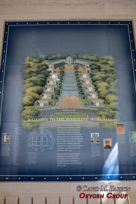 Interpretive Panel, Punchbowl, National Memorial Cemetery of the Pacific