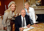 From left: Madeleine and T. Boone Pickens with Joan Schnitzer Levy at her home Wednesday March 18, 2009. (Dave Rossman/For the Chronicle)