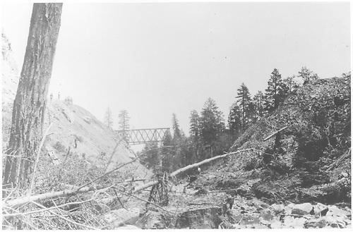 Pleasant Valley bridge washout.<br /> RGS  Pleasant Valley Bridge, CO  8/2/1908