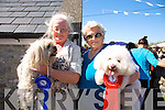 Bridie Brassil and Teasey Sheehy with Roger and Bobby from Tralee.  Bobby came first in the small dog class with Roger coming second at  the Spa/Churchill Fenit Annual Heritage Weekend at the Forge Churchill on Saturday