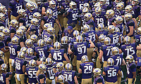 Vita Vea fires up the Dawgs before the game.