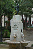 fountain with statue of Joan Alcover i Maspons (Majorca, 1854-1926), poet, essayist and politician<br /> <br /> fuente con estatua de Joan Alcover i Maspons (Mallorca, 1854-1926) poeta, ensayista y pol&iacute;tico<br /> <br /> Brunnen mit Skulptur von Joan Alcover i Maspons (Mallorca, 1854-1926, Dichter, Essayist und Politiker