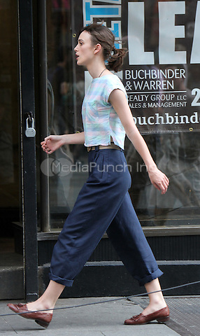 "July 2, 2012 Keira Knightley shooting ""Can a Song Save Your Life?"" on location at Electric Lady Studios in New York City. © RW/MediaPunch Inc."