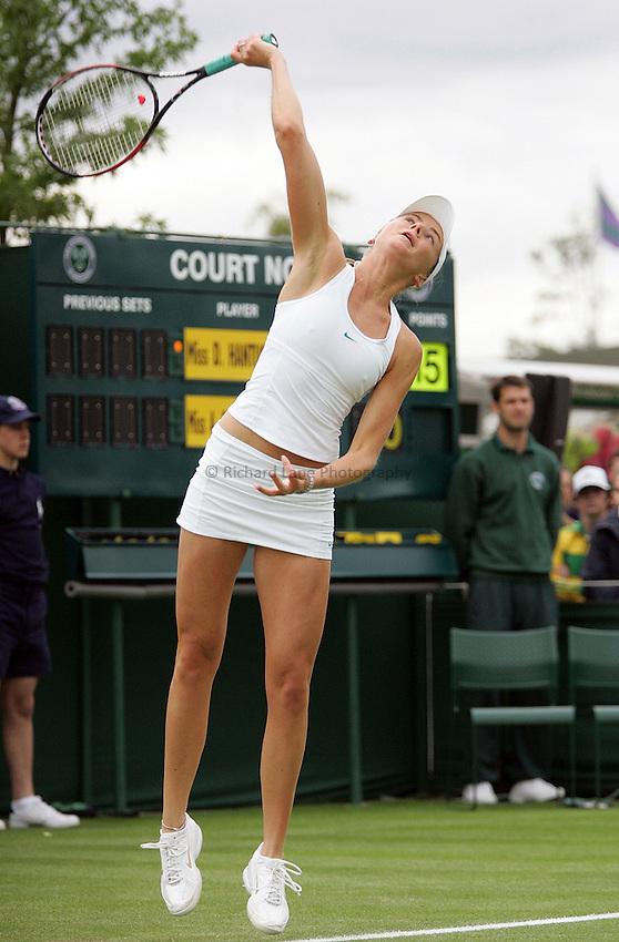 Photo: Paul Thomas..Wimbledon Championships. 26/06/2007..Daniela Hantuchova (SVK) during her match with Anastasia Pavlyuchenkova (RUS).