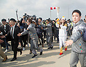 Suzy (miss A), Nov 1, 2017 : South Korean actress and singer from girl group miss A, Suzy (2nd R), who is a torch bearer, attends the Olympic Torch Relay on the Incheon Bridge in Incheon, west of Seoul, South Korea. The Olympic flame arrived in Incheon, South Korea on Wednesday and it is going to be passed across the country during a 100-day tour until the opening ceremony of the 2018 PyeongChang Winter Olympics which will be held for 17 days from February 9 - 25, 2018. (Photo by Lee Jae-Won/AFLO) (SOUTH KOREA)