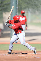 Cincinnati Reds third baseman Kevin Franklin (19) during an instructional league game against the Cleveland Indians on September 28, 2013 at Goodyear Training Complex in Goodyear, Arizona.  (Mike Janes/Four Seam Images)