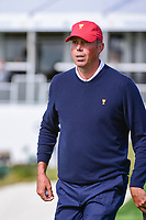 Matt Kuchar (USA) departs 14 during round 3 Foursomes of the 2017 President's Cup, Liberty National Golf Club, Jersey City, New Jersey, USA. 9/30/2017.<br /> Picture: Golffile | Ken Murray<br /> <br /> All photo usage must carry mandatory copyright credit (&copy; Golffile | Ken Murray)