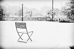 A walk in a snowy park...