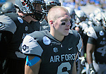 September 10, 2016 - Colorado Springs, Colorado, U.S. - Air Force quarterback, Nate Romine #6, prior to the NCAA Football game between the Georgia State Panthers and the Air Force Academy Falcons, Falcon Stadium, U.S. Air Force Academy, Colorado Springs, Colorado.  Air Force defeats Georgia State 48-14.