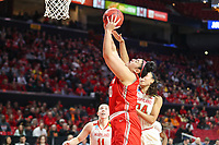 College Park, MD - March 23, 2019: Radford Highlanders center Sydney Nunley (50) makes a layup during game between Radford and Maryland at  Xfinity Center in College Park, MD.  (Photo by Elliott Brown/Media Images International)