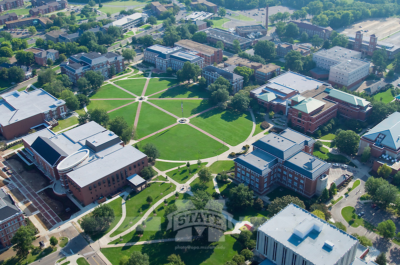Aerial of Drill Field. (photo by Russ Houston / © Mississippi State University)