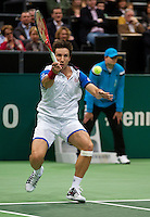 Rotterdam, The Netherlands. 15.02.2014. Igor Sijsling(NED) in his match against Marin Cilic(KRO) at the ABN AMRO World tennis Tournament<br /> Photo:Tennisimages/Henk Koster