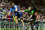 Paul Geaney Kerry in action against Michael Fitzsimons Dublin in the National League in Austin Stack park on Saturday night.