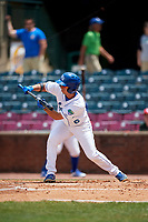Lexington Legends shortstop Matt Morales (6) squares around to bunt during a game against the Rome Braves on May 23, 2018 at Whitaker Bank Ballpark in Lexington, Kentucky.  Rome defeated Lexington 4-1.  (Mike Janes/Four Seam Images)