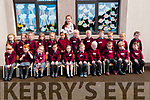 M/s Evelyn O'Connell's junior infants class at Coolard NS on their first day in school.