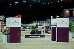 The course before the EEM Trophy, part of the Longines Masters of Hong Kong on 10 February 2017 at the Asia World Expo in Hong Kong, China. Photo by Juan Serrano / Power Sport Images