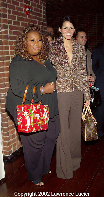 NEW YORK-NOVEMBER 11: Actresses Star Jones (L) and Angie Harmon (R) arrive at the launch party for Triggerstreet.com November 11, 2002, at the Hudson Hotel in New York City.