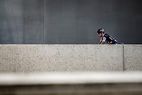 Greg Van Avermaet (BEL/BMC) pre race. <br /> <br /> Binckbank Tour 2018 (UCI World Tour)<br /> Stage 6: Riemst (BE) - Sittard-Geleen (NL) 182,2km
