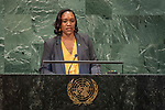 General Assembly Seventy-third session, 14th plenary meeting<br /> <br /> 	<br /> Her Excellency Francine BARON Minister for Foreign Affairs and CARICOM Affairs of Dominica