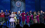 The cast & creative team during the Broadway Opening Performance Curtain Call of 'Charlie and the Chocolate Factory' at the Lunt-Fontanne Theatre on April 23, 2017 in New York City.