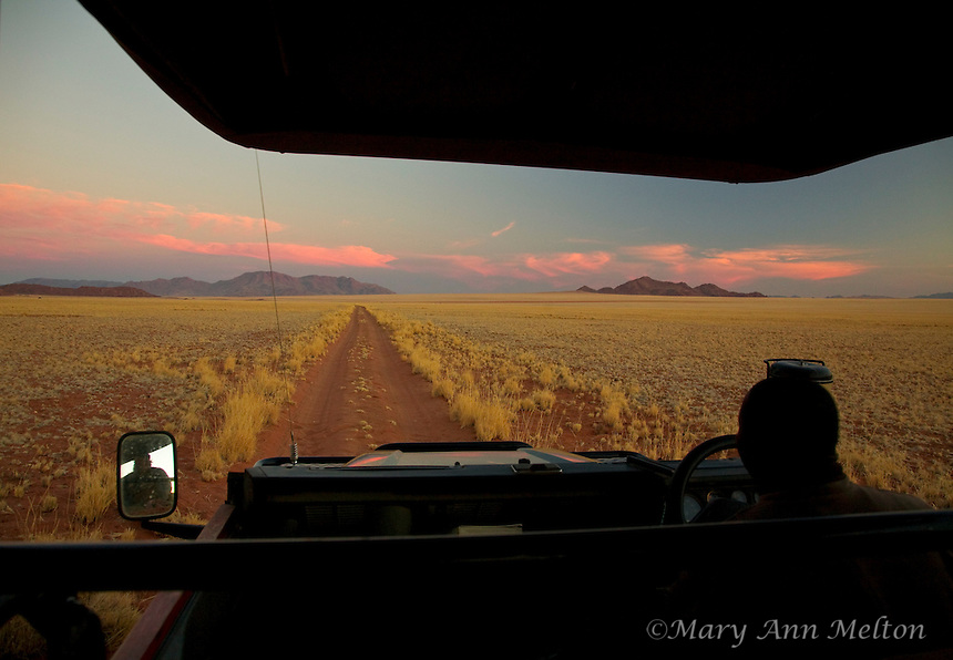 A sunset safari from the Sossusvlei Mountain Lodge in the NamibRand Nature Preserve, Namibia