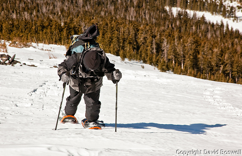 My son, Ethan, snowshoeing on Humphrey's Peak, the highest point in Arizona.