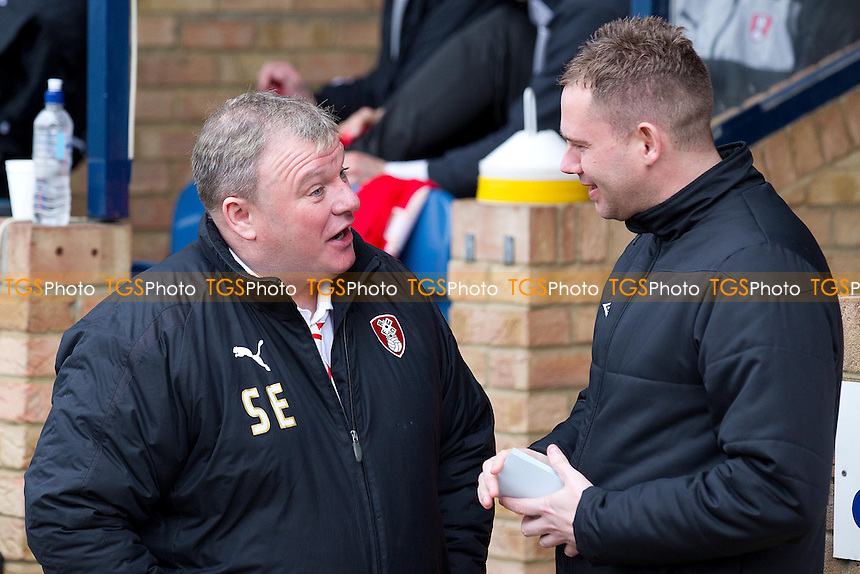 Steve Evans, Manager, Rotherham United FC - Southend United vs Rotherham United - NPower League Two Football at Roots Hall, Southend-on-Sea, Essex - 02/03/13 - MANDATORY CREDIT: Ray Lawrence/TGSPHOTO - Self billing applies where appropriate - 0845 094 6026 - contact@tgsphoto.co.uk - NO UNPAID USE.