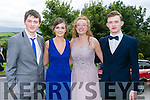Enjoying the Colaiste na Sceilge Debutante Ball at Ballyroe Heights Hotel on Tuesday were l-r  Des Courtney, Ciara Walsh, Ellen Murphy and Cian Walsh.