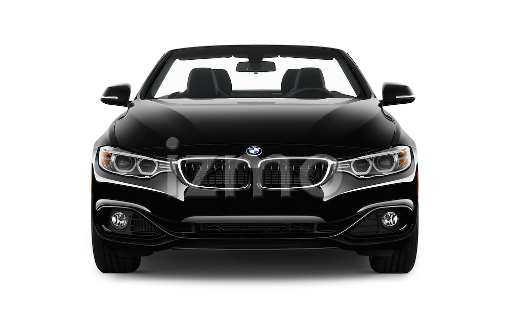 Car photography straight front view of a 2016 BMW 4 Series 428I 2 Door Convertible Front View