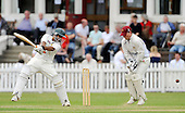 Scottish National Cricket League - Prem Div - McCrea FS West CC V Clydesdale CC, at Hamilton Crescent, Glasgow - 'Dale Pro Kamran Sajid slices the ball past West keeper (and Captain) Ian Young - Sajid led the West fightback from 111 for 6 with a well worked 79 before falling to the West attack - Picture by Donald MacLeod 26.06.10 - mobile 07702 319 738 - clanmacleod@btinternet.com
