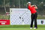 Soktaera Sean of New Zealand tees off at tee one during the 9th Faldo Series Asia Grand Final 2014 golf tournament on March 18, 2015 at Faldo course in Mid Valley clubhouse in Shenzhen, China. Photo by Xaume Olleros / Power Sport Images