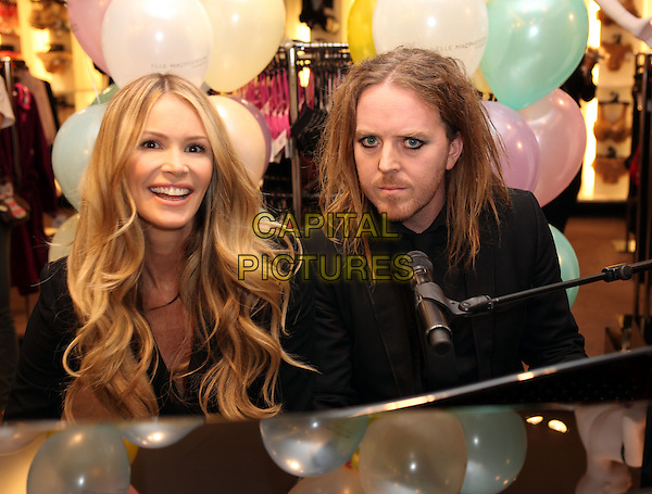 Elle MacPherson, Tim Minchin.celebrates 10 years of her 'Intimates' lingerie range, Selfridges, London, England 15th November 2011.* Editorial Use Only*.headshot portrait black stubble facial hair.CAP/NFS.Supplied by Capital Pictures..