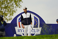 Justin Thomas (Team USA) on the 7th during the friday fourballs at the Ryder Cup, Le Golf National, Iles-de-France, France. 27/09/2018.<br /> Picture Fran Caffrey / Golffile.ie<br /> <br /> All photo usage must carry mandatory copyright credit (© Golffile | Fran Caffrey)