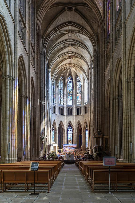 France, Haute-Vienne (87), Limoges, la cathédrale Saint-Étienne, la nef // France, Haute Vienne, Limoges, the Saint Etienne cathedral, the nave