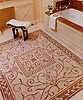 Custom Townsend rug in Botticino and Rosa Verona